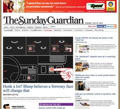 Bleep in The Sunday Guardian on 29th June 2013 - http://www.sunday-guardian.com/technologic/honk-a-lot-bleep-believes-a-frowney-face-will-change-that