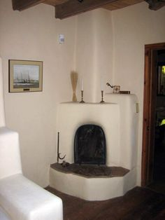 kiva fireplace plans | One of several new kiva fireplaces added to various rooms; traditional ...