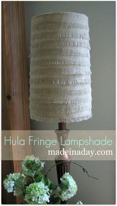 Fringe Burlap Lamp Shape...