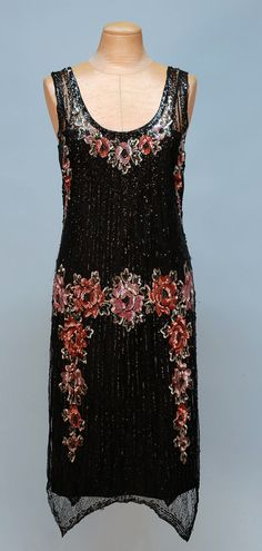 Sequinned Net Dress, 1920's