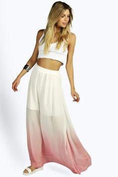 Orla Ombre Maxi Skirt at boohoo.com