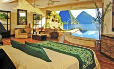 Jade Mountain - Anse Chastanet in Caribbean St Lucia.  I will go here one day too!