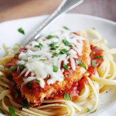 Baked Chicken Parmesan Recipe Main Dishes with chicken breasts, seasoned bread crumbs, grated parmesan cheese, butter, reduced fat mozzarella, marinara sauce, cooking spray