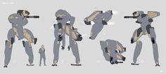 ArtStation - Space Race Navy Mech Sketches, David Heidhoff