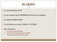 el credo Religion, Amp, Texts, Truths, Bible, Catechism, Nicene Creed, Apostles Creed