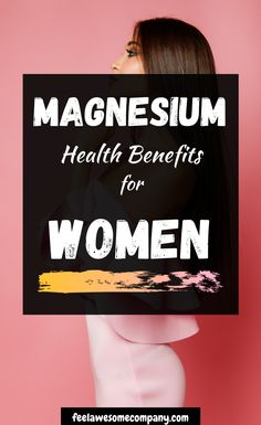Magnesium is a vital nutrient for women's health and wellness. In this article you'll learn about the health benefits of magnesium for women, as well as some related questions about magnesium rich foods and magnesium deficiency symptoms. Women's Health, Health Tips, Health And Wellness, Magnesium Benefits, Health Benefits, Magnesium Deficiency, Stress And Depression, Anxiety Remedies, Weight Loss Supplements