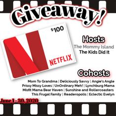Enter For A Chance To Win A $100 NETFLIX GIFT CARD! Open Worldwide until June 30th, 2020! #Giveaway #contest It Netflix, Netflix And Chill, Netflix Gift Card, Positivity Blog, Frugal Family, Gift Card Giveaway, You Are Invited, The 100, Best Gifts
