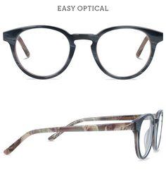 Easy Optical Carmine Roger Grey Round Glass, Eyewear, Glasses, Grey, Gray, Eyeglasses, Eyeglasses, Sunglasses, Eye Glasses