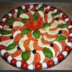 Tomato and mozzarella platter.