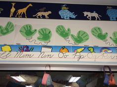 Use your handprint and make mittens
