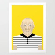 Pablo Picasso Art Print by Matteo Lotti