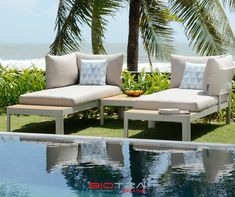 peace and quiet ( ・・・ Redefine your outside area with the classy, clean lines of the Portals collection and the modular sofa set.