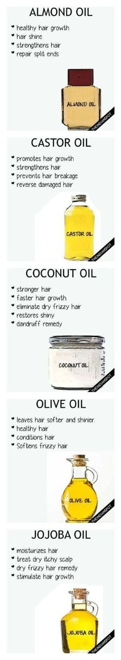 5 Hair Oils for healthy hair by jana
