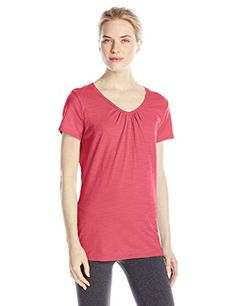 Hanes Women's Shirred V-Neck T-Shirt >>> You can get additional details at the image link.