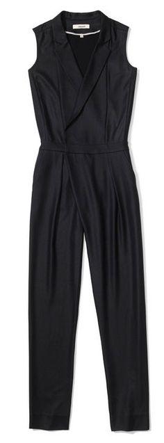 luxe tux j brand black jumpsuit