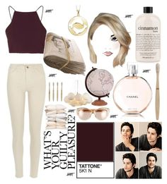 """""""Untitled #14"""" by jayla-doucett ❤ liked on Polyvore featuring River Island, Topshop, philosophy, Chanel, ferm LIVING, Oliver Peoples, Jamie Young and Target"""