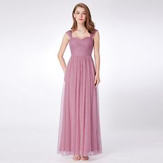 Ever-Pretty New Long Orchid High Waist Dresses Mother of Bride Dresses 07304