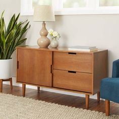 Better Homes and Gardens Flynn Credenza, Pecan