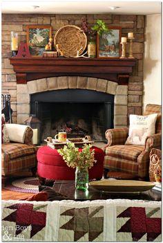 7 Unforgivable Sins Of Eclectic Home Decor,  #Decor #Eclectic #Home #Sins #Unforgivable Corner Stone Fireplace, Fireplace Design, Gas Fireplace, Fireplace Heater, Fireplace Modern, Stone Fireplaces, Electric Fireplace, Family Room Decorating, Family Room Design