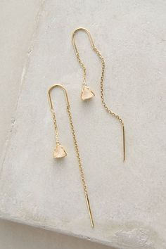at anthropologie Pearblossom Threaded Earrings