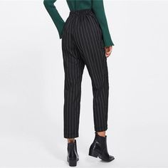 04569a36463 Closure Type  Elastic Waist Decoration  Pockets Pattern Type  Striped Fit  Type  Loose Pant Style  Harem Pants Length  Ankle-Length Pants Material   Polyester ...