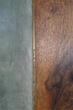 cement screed floor with timber inlay