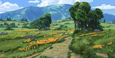 ArtStation - modular forest set, Tyler edlin
