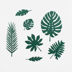 Decorations en papier - Feuilles tropicales