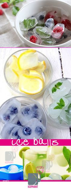 DIY Fruit In The Ice - IcePhant.com sphere ice molds