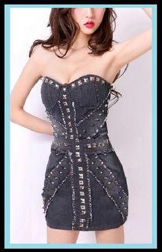 Lexy Denim Studded Dress