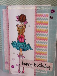 This Paisley has a Prezzie card is the birthday card I made for my niece. I used my new Wink of Stella brush and love how it sparkles.