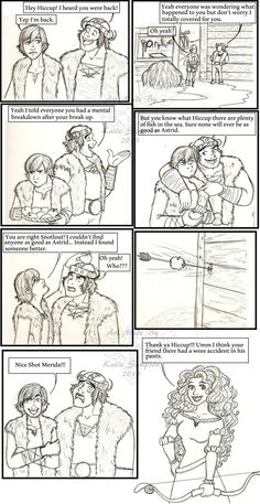 Mericcup comic by Redhead-K on deviantART - Love the concept, could kill for what the artist did to Merida.worse than what Disney tried to do. I hate this ship but love the comic srip Disney And More, Disney Love, Disney Magic, Disney And Dreamworks, Disney Pixar, Walt Disney, Disney Ships, Rapunzel, Disney Crossovers