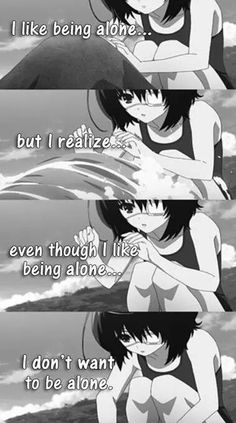 another- mei misaki Sad Anime Quotes, Manga Quotes, I Like Being Alone, A Silent Voice, Dark Quotes, Another Anime, Dark Anime, Depression Quotes, Anime Life