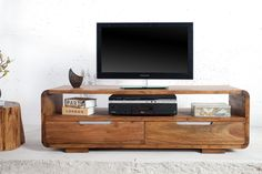 Solid wood curved tv unit with 2 drawers Living Room Designs, Living Room Decor, Living Spaces, Goa, Innovation Living, Curved Tvs, Rack Tv, Entertainment Table, Ideas