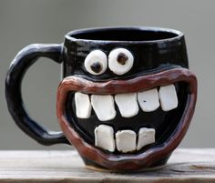 Funny Face Mug Coffee Cup by NelsonStudio - puts a big smile on my face!