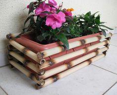 Cachepo De Bambu Para Jardineira - Decoração Jardinagem