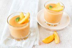 sárgabarackos puding Peach Smoothie Recipes, Healthy Smoothies, Healthy Drinks, Muesli, Superfood, Shake Recipes, Buy Protein, Alternative, Fruit Smoothies