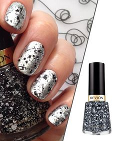 Give Yourself a Modern Art Mani Revlon Graffiti polishes make your nails look like little Jackson Pollock splatter paintings. Shade shown: Rebel Graffiti (as topcoat).   Photo credit: ImaBeautyGeek.com
