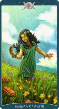 Đặc biệt Lá Maiden of Earth - Book of Shadows Tarot (As Above) aka Page of Pentacles