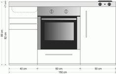 Miniküche Stengel Premiumline MPB 150, Metall, 150 cm, Farbe wählbar…