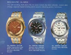 SEIKO_brochure_prices_69-70 Seiko Automatic, Watch Photo, Seiko Watches, Vintage Watches, Old And New, Vintage Posters, Classy, Stainless Steel, Design