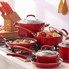Martha Steward Kitchen Set ~ Home Styling -Red