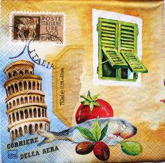 S157 Servítky - Italia, koloseum, skúter, víno