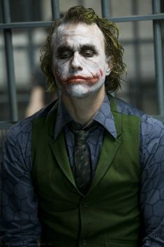 Heath Ledger as the Joker in A Dark Knight