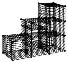 6 Cube Wire Step System, Garment Rack