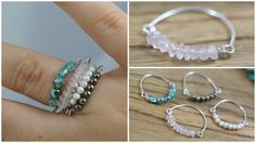 DIY Bead & Wire Stacked Rings: Jewelry Tutorial, My Crafts and DIY Projects diy jewelry tutorial DIY Bead & Wire Stacked Rings: Jewelry Tutorial Diy Jewelry Rings, Diy Jewelry Making, Simple Jewelry, Jewelry Crafts, Beaded Jewelry, Diy Beaded Rings, Jewelry Holder, Diy Wire Rings Easy, Topaz Jewelry