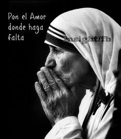 """〽️ """"Cuando murió mi mujer y mi hija en un accidente aéreo, me llamó la Madre Teresa, ¿sabes que me dijo?: Ah Caramba, ahora si que tienes un gran problema: ¿donde vas a poner el amor que te sobra?. Me llevó a Calcula a lavar leprosos, y me salvó... pon el amor que te sobra, donde haga falta"""".Facundo Cabral"""