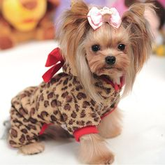 Cute Leopard Print Cotton Pet Dog Clothes Late Autumn & Winter Small Dog Pink Coffee Coat Size XS-XL Boutique Retail