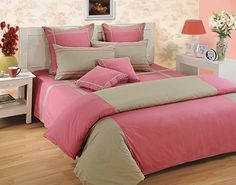 Pink Bed Sheet Sets, Pick the perfect bed sheets from our wide selection of patterns and colours. Our bed sheets are crafted with high-quality material. Pink Bedding, Cotton Bedding, Luxury Bedding, Pink Bed Sheets, Best Bed Sheets, Bed Is Calling, Cheap Bed Linen, Stylish Beds, Bed Sheet Sets