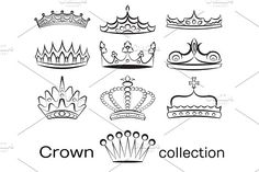 Crown collection set by Netkoff on @creativemarket